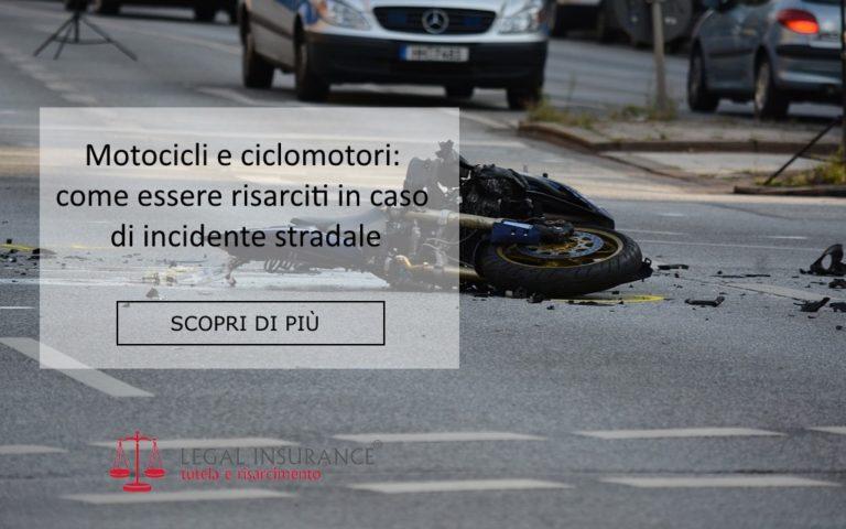 risarcimento incidenti stradali motocicli e ciclomotori